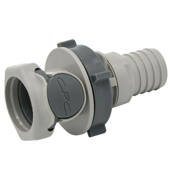 Quick release connector CPC-HFCD161212 coupling on 19 mm (ID) - shut-off, plate mounting