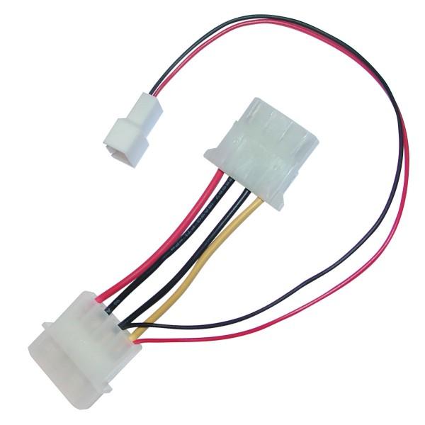 Adapter 4-Pin-/4-Pol- zu 3-Pin-Molex (ohne Tachosignal)