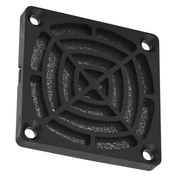 Fan grille with filter 60 mm - plastic, black
