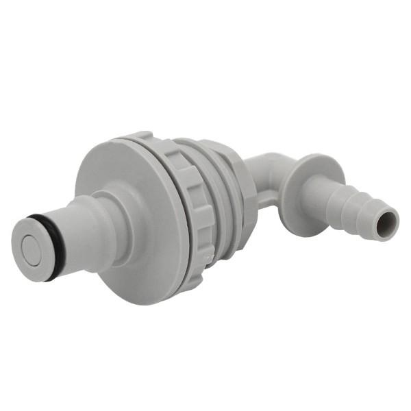 Schnellverschluss CPC-NS4D43004 Stecknippel auf 6,4 mm (ID) - 90 Grad Winkel, Absperrend, Plattenmon