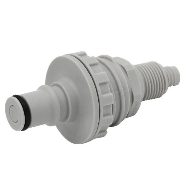 Schnellverschluss CPC-NS4D40006 Stecknippel auf 9,5/6,4 mm - Absperrend, Plattenmontag