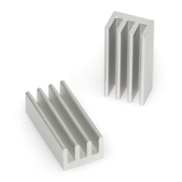 Passivkühler 25 x 12 mm (2 Stück) - silber